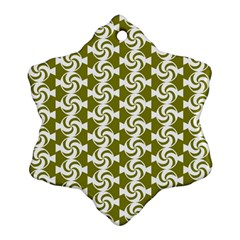 Candy Illustration Pattern Snowflake Ornament (2 Side)