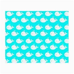 Cute Whale Illustration Pattern Small Glasses Cloth (2 Side) by creativemom