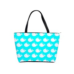 Cute Whale Illustration Pattern Shoulder Handbags by creativemom
