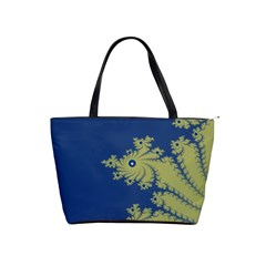 Blue and Green Design Shoulder Handbags by theunrulyartist