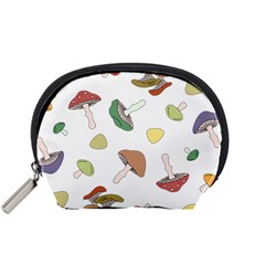 Mushrooms Pattern 02 Accessory Pouches (small)  by Famous