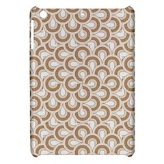 Retro Mirror Pattern Brown Apple Ipad Mini Hardshell Case by ImpressiveMoments