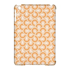 Retro Mirror Pattern Peach Apple Ipad Mini Hardshell Case (compatible With Smart Cover) by ImpressiveMoments