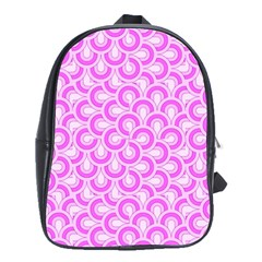 Retro Mirror Pattern Pink School Bags(large)  by ImpressiveMoments