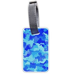 Camouflage Blue Luggage Tags (one Side)  by MoreColorsinLife