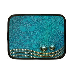 Wonderful Decorative Design With Floral Elements Netbook Case (small)  by FantasyWorld7