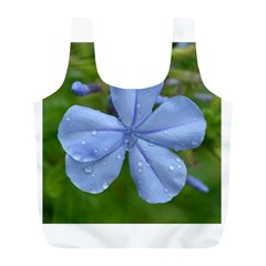 Blue Water Droplets Full Print Recycle Bags (l)  by timelessartoncanvas