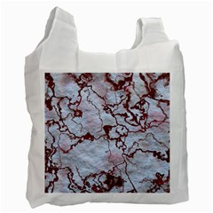 Marbled Lava Red Recycle Bag (one Side) by MoreColorsinLife