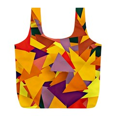 Geo Fun 8 Colorful Full Print Recycle Bags (l)  by MoreColorsinLife