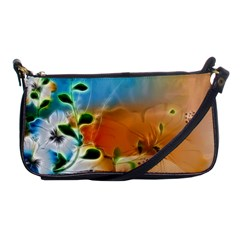 Wonderful Flowers In Colorful And Glowing Lines Shoulder Clutch Bags by FantasyWorld7