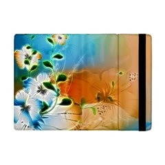 Wonderful Flowers In Colorful And Glowing Lines Ipad Mini 2 Flip Cases by FantasyWorld7