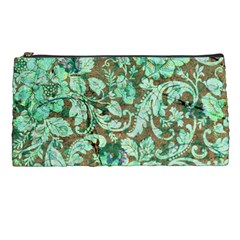 Beautiful Floral Pattern In Green Pencil Cases by FantasyWorld7