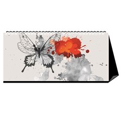 2017 Search Red Desktop Calendar 11  X 5  by walala