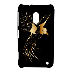 Beautiful Bird In Gold And Black Nokia Lumia 620 by FantasyWorld7