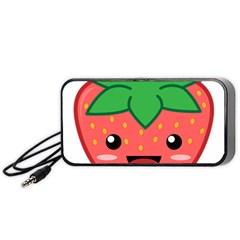 Kawaii Strawberry Portable Speaker (black)