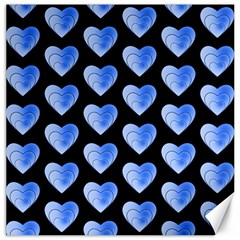 Heart Pattern Blue Canvas 16  X 16   by MoreColorsinLife