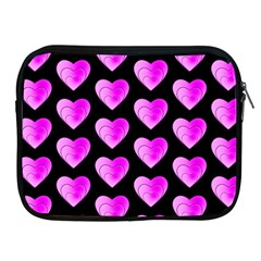 Heart Pattern Pink Apple Ipad 2/3/4 Zipper Cases by MoreColorsinLife