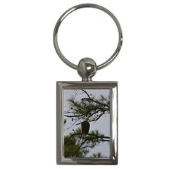 Bald Eagle 4 Key Chains (rectangle)  by timelessartoncanvas