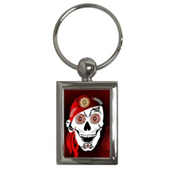 Funny Happy Skull Key Chains (rectangle)  by FantasyWorld7