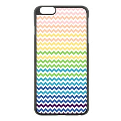 Pastel Gradient Rainbow Chevron Apple Iphone 6 Plus/6s Plus Black Enamel Case by CraftyLittleNodes