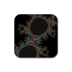 Dream In Fract Rubber Square Coaster (4 Pack)  by digitaldivadesigns