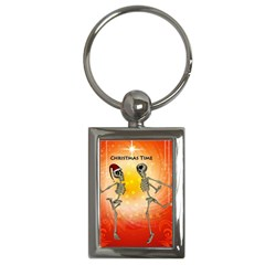 Dancing For Christmas, Funny Skeletons Key Chains (rectangle)  by FantasyWorld7