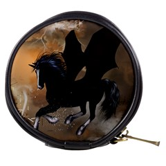 Awesome Dark Unicorn With Clouds Mini Makeup Bags by FantasyWorld7
