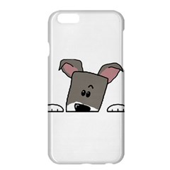 Peeping Miniature Schnauzer Apple iPhone 6 Plus/6S Plus Hardshell Case by TailWags