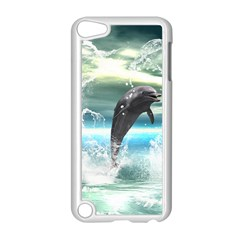 Funny Dolphin Jumping By A Heart Made Of Water Apple Ipod Touch 5 Case (white)