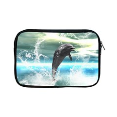 Funny Dolphin Jumping By A Heart Made Of Water Apple Ipad Mini Zipper Cases by FantasyWorld7