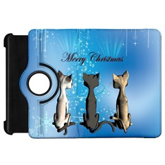 Merry Chrsitmas Kindle Fire Hd Flip 360 Case by FantasyWorld7