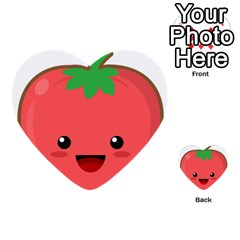 Kawaii Tomato Multi Purpose Cards (heart)  by KawaiiKawaii