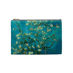 Blossoming Almond Tree Cosmetic Bag (medium)  by MasterpiecesOfArt