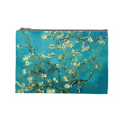 Blossoming Almond Tree Cosmetic Bag (large)  by MasterpiecesOfArt