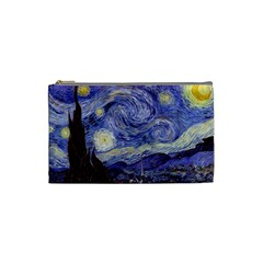 Van Gogh Starry Night Cosmetic Bag (small)  by MasterpiecesOfArt