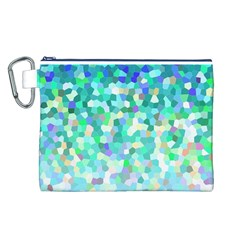 Mosaic Sparkley 1 Canvas Cosmetic Bag (l)