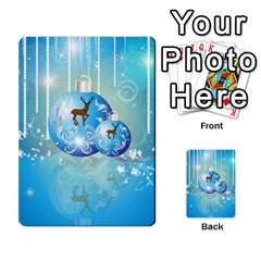 Wonderful Christmas Ball With Reindeer And Snowflakes Multi Purpose Cards (rectangle)  by FantasyWorld7