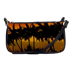 Sunset Over The Beach Shoulder Clutch Bags by FantasyWorld7