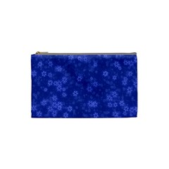 Snow Stars Blue Cosmetic Bag (small)  by ImpressiveMoments