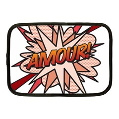 Comic Book Amour! Netbook Case (medium)  by ComicBookPOP