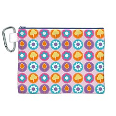 Chic Floral Pattern Canvas Cosmetic Bag (xl)  by creativemom