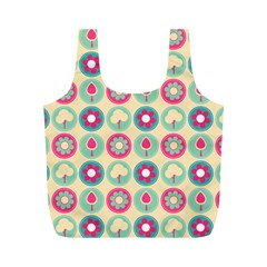 Chic Floral Pattern Full Print Recycle Bags (m)  by creativemom