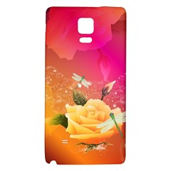 Beautiful Roses With Dragonflies Galaxy Note 4 Back Case by FantasyWorld7