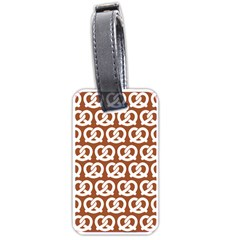 Brown Pretzel Illustrations Pattern Luggage Tags (two Sides) by creativemom