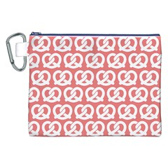 Chic Pretzel Illustrations Pattern Canvas Cosmetic Bag (xxl)  by creativemom