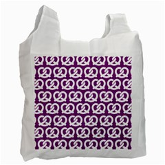 Purple Pretzel Illustrations Pattern Recycle Bag (one Side) by creativemom
