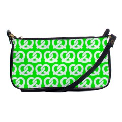 Neon Green Pretzel Illustrations Pattern Shoulder Clutch Bags by creativemom