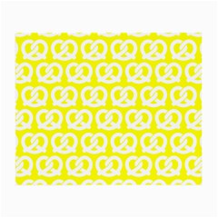 Yellow Pretzel Illustrations Pattern Small Glasses Cloth (2 Side) by creativemom