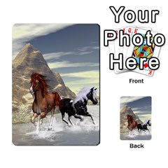 Beautiful Horses Running In A River Multi Purpose Cards (rectangle)  by FantasyWorld7