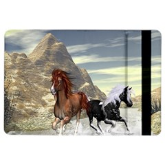 Beautiful Horses Running In A River Ipad Air 2 Flip by FantasyWorld7